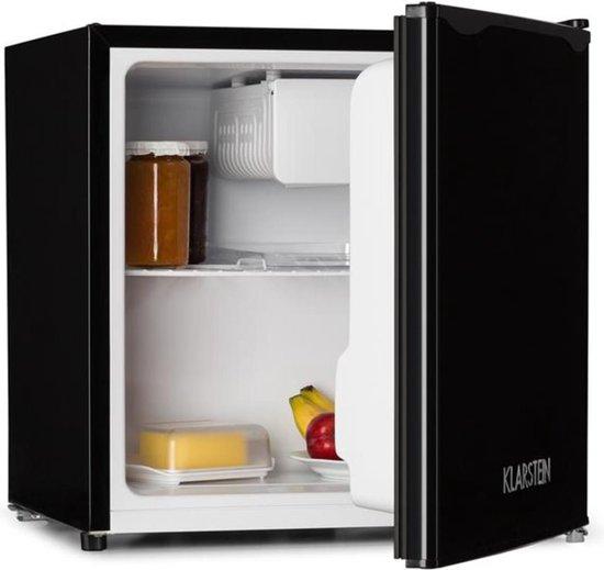 Koelkast: Koelkast 40 liter klasse A + diepvriesvak zwart, van het merk Klarstein