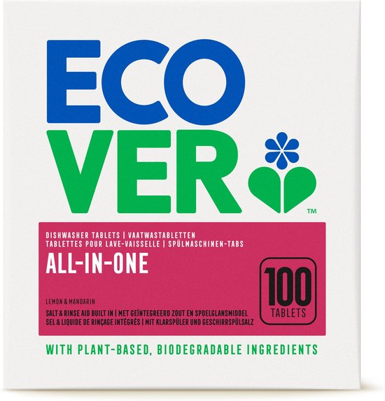 Ecover Vaatwastabletten All In One - 100 Tabs
