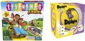Spellenbundel - Bordspellen - 2 Stuks - Levensweg Junior & Dobble Classic