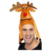 Dressing Up & Costumes | Costumes - Christmas - Reindeer Hat, Sat On Your Head