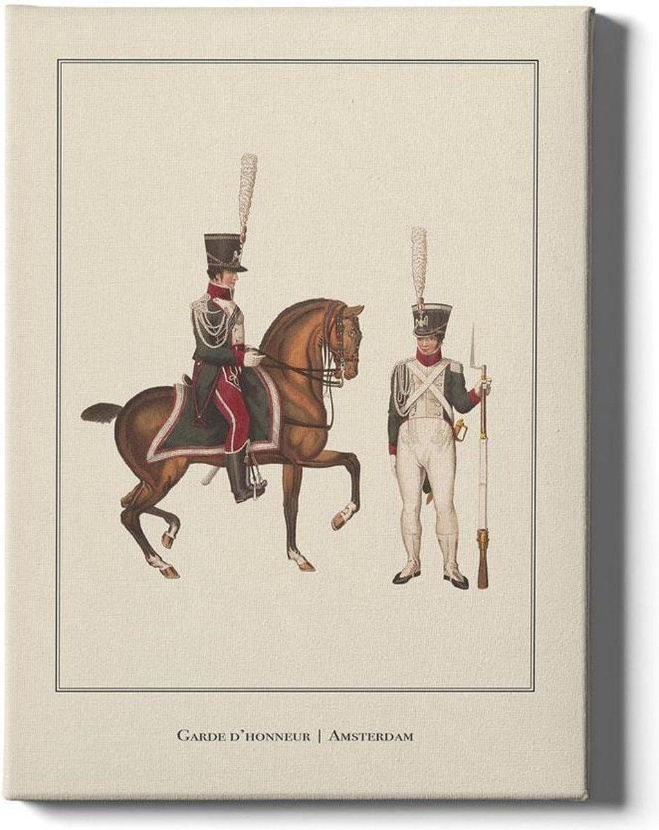 Garde d'honneur Amsterdam - Walljar - Muurdecoratie - Schilderij - Plexiglas