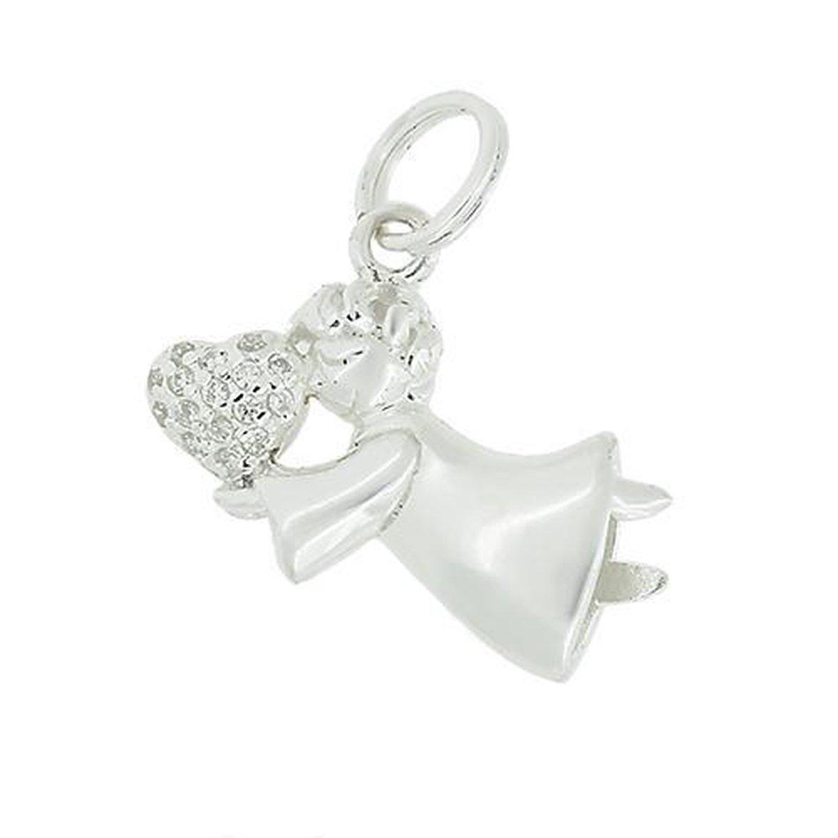 Blinx Jewels Zilveren Hanger Engel Hartje