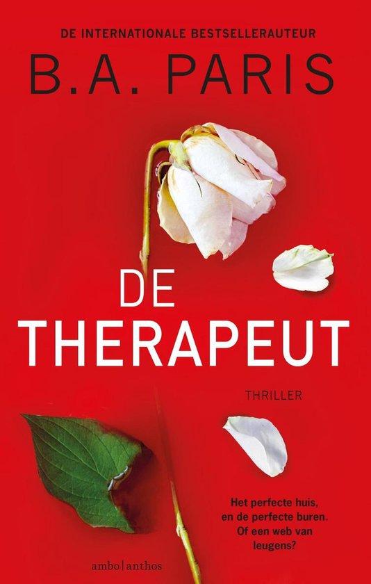 Boek cover De therapeut van B.A. Paris (Onbekend)