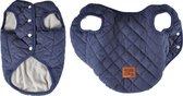 4Goodz winterjas bodywarmer voor honden quilted gestikt 35 cm - Blauw