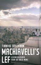 Boek cover Machiavelli's lef van Tinneke Beeckman