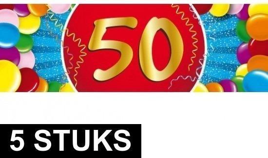 Uitgelezene bol.com | 5x 50 jaar stickers - Abraham/Sarah - Verjaardag WH-27
