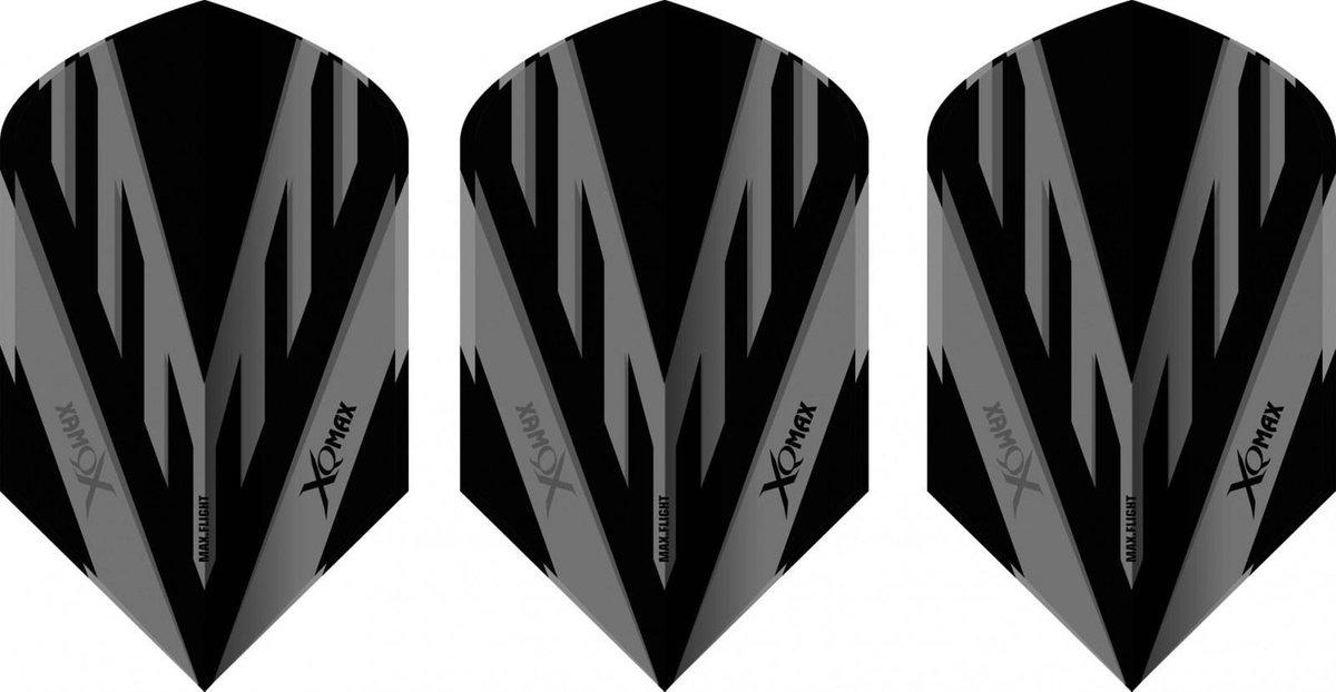 Xq Max Flights Pvc Slim-cuts 100 Micron Grijs/zwart 3 Stuks