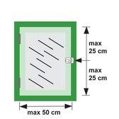 AXA 3015 Veiligheids oplegslot - 3015-00-98/G - draairichting 1-2 - wit