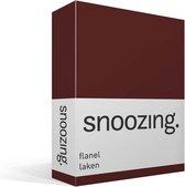 Snoozing - Flanel - Laken - Tweepersoons - 200x260 cm - Aubergine