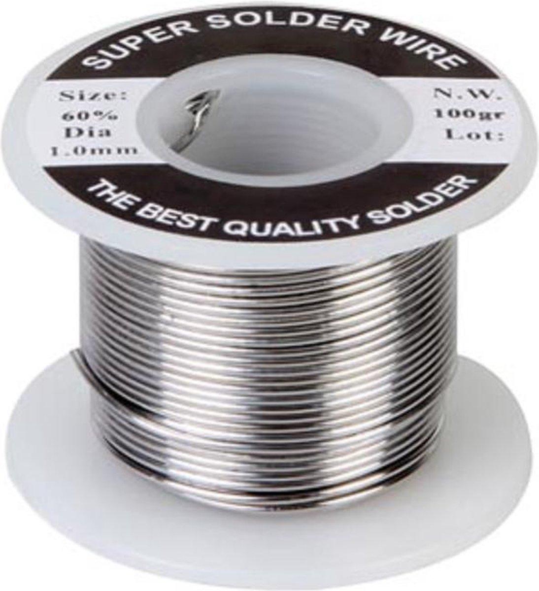 Velleman Soldeertin 60/40 1 Mm 100 Gram Zilver