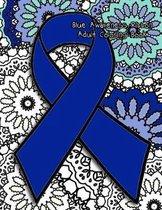 Blue Awareness Ribbon Adult Coloring Book