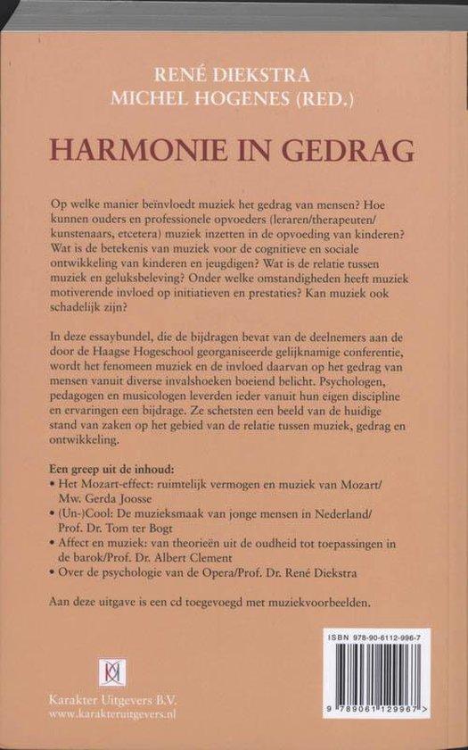 Harmonie in gedrag - R. Diekstra |