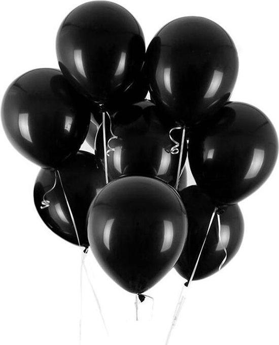 Set van 10 Metallic Ballonnen Zwart | Latex Ballonnen | Feesten & Partijen