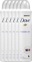 Dove Invisible Dry Women - 6 x 250  ml - Deodorant Spray - Voordeelverpakking