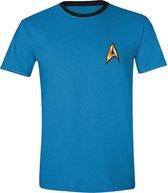 Star Trek - Spock Uniform T-Shirt - Blauw - Maat S
