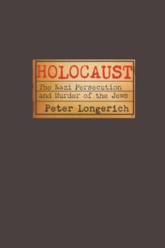 Boek cover Holocaust van Peter Longerich (Paperback)