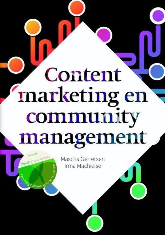 Boek cover Content marketing en community management met mylabnl toegangscode van Mascha Gerretsen (Paperback)