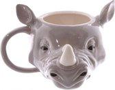 Koffie mok neushoorn