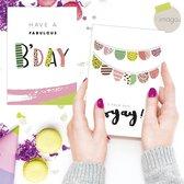 wenskaarten - kaartenset - ansichtkaarten - Verjaardag - 6 stuks