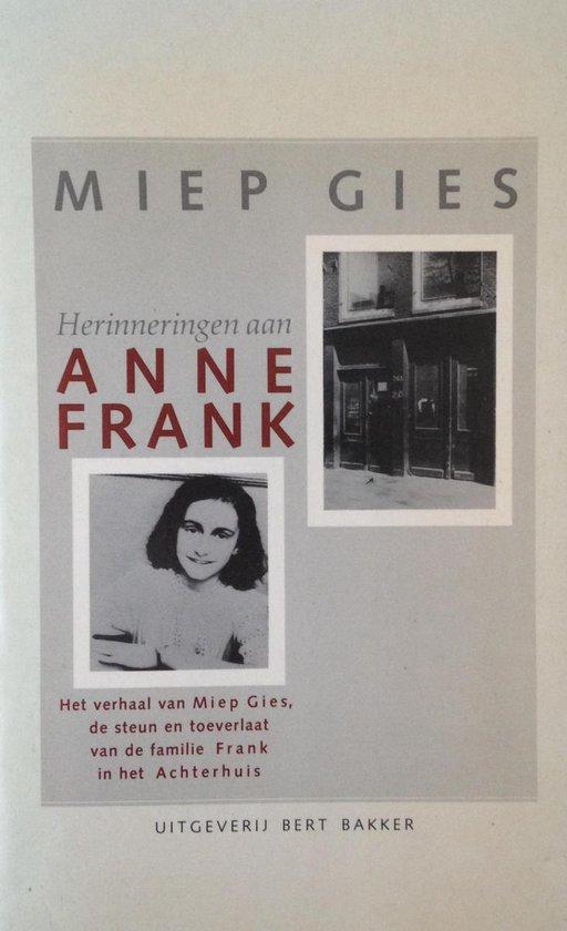 Herinneringen aan Anne Frank - Miep Gies pdf epub