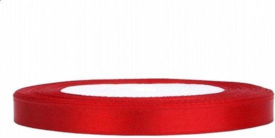 Satijn Lint Rood 6mm 25m