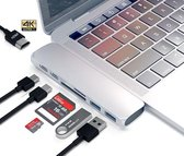 USB c adapter | 7 poorts | TF SD HDMI USB 3.0 | Macbook Pro - Zilver
