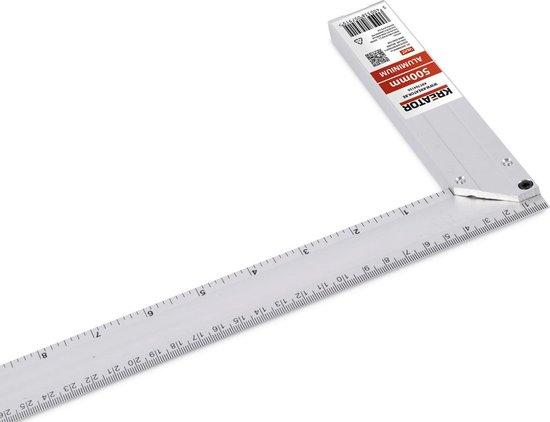 Kreator KRT704150 Winkelhaak - Aluminium - 500 mm - Kreator