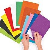 Voordeelpakket zelfklevende vilten vellen - knutselspullen voor kinderen en volwassen om te maken en versieren scrapbooking wenskaarten en knutselwerkjes (18 stuks)