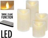 LED Kaarsen Set van 4 Bewegende vlam