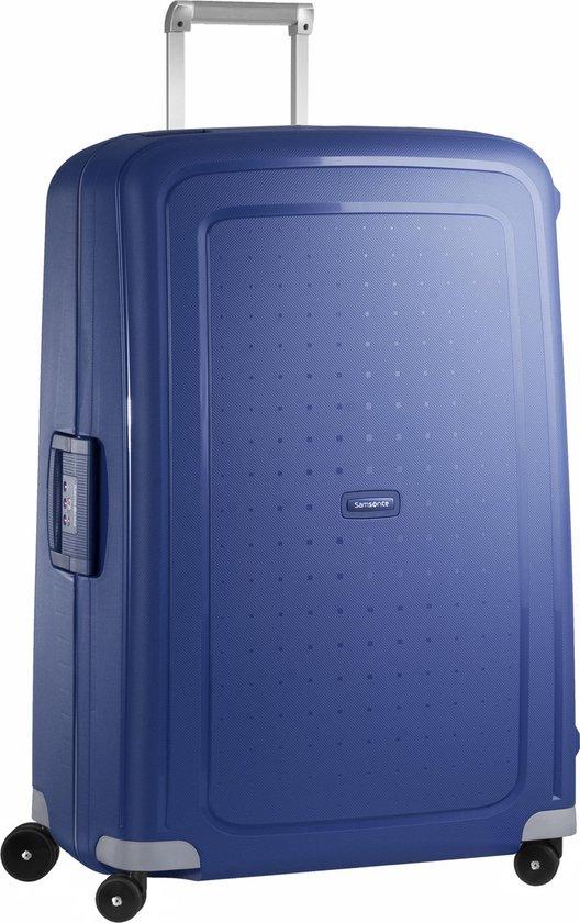 Samsonite S'Cure Spinner Reiskoffer 81 cm - Blauw