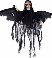 Halloween - Bewegende skelet pop zwart met licht en geluid