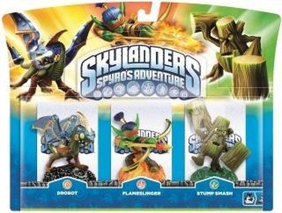 Skylanders Spyro's Adventure: Triple Pack Drobot, Stump Smash, Flameslinger - Skylanders