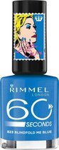 Rimmel London 60 seconds RO collectie Nagellak - 823 Blindfold Me Blue