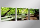 Art4-all - Canvas Schilderij River - 150x50cm