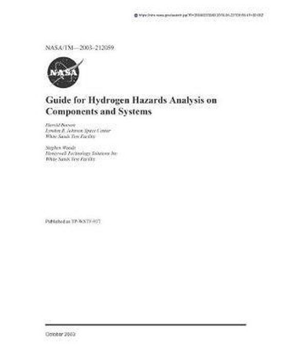 Guide for Hydrogen Hazards Analysis on Components and Systems