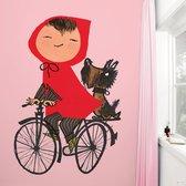KEK Amsterdam Riding my Bike - Fotobehang - Roze