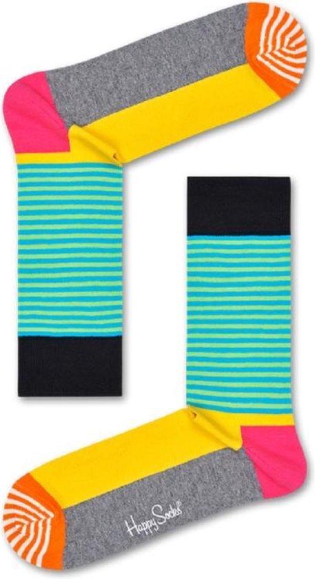 Happy Socks Half Stripe Grijs, Maat 36/40