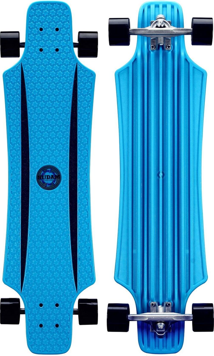 """Nijdam Kunststof Longboard 36"""" - X-Flex Longboard - Kobalt/Zwart"""