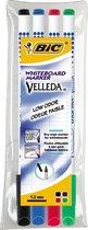 Bic Velleda Whiteboardmarkers - 4 stuks - 1,5mm Rond