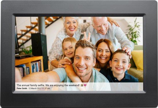 Denver PFF-1010 Black - Digitale Fotolijst - 10.1 inch - met Frameo software - Zwart