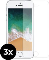 3x Tempered Glass screenprotector -  iPhone SE