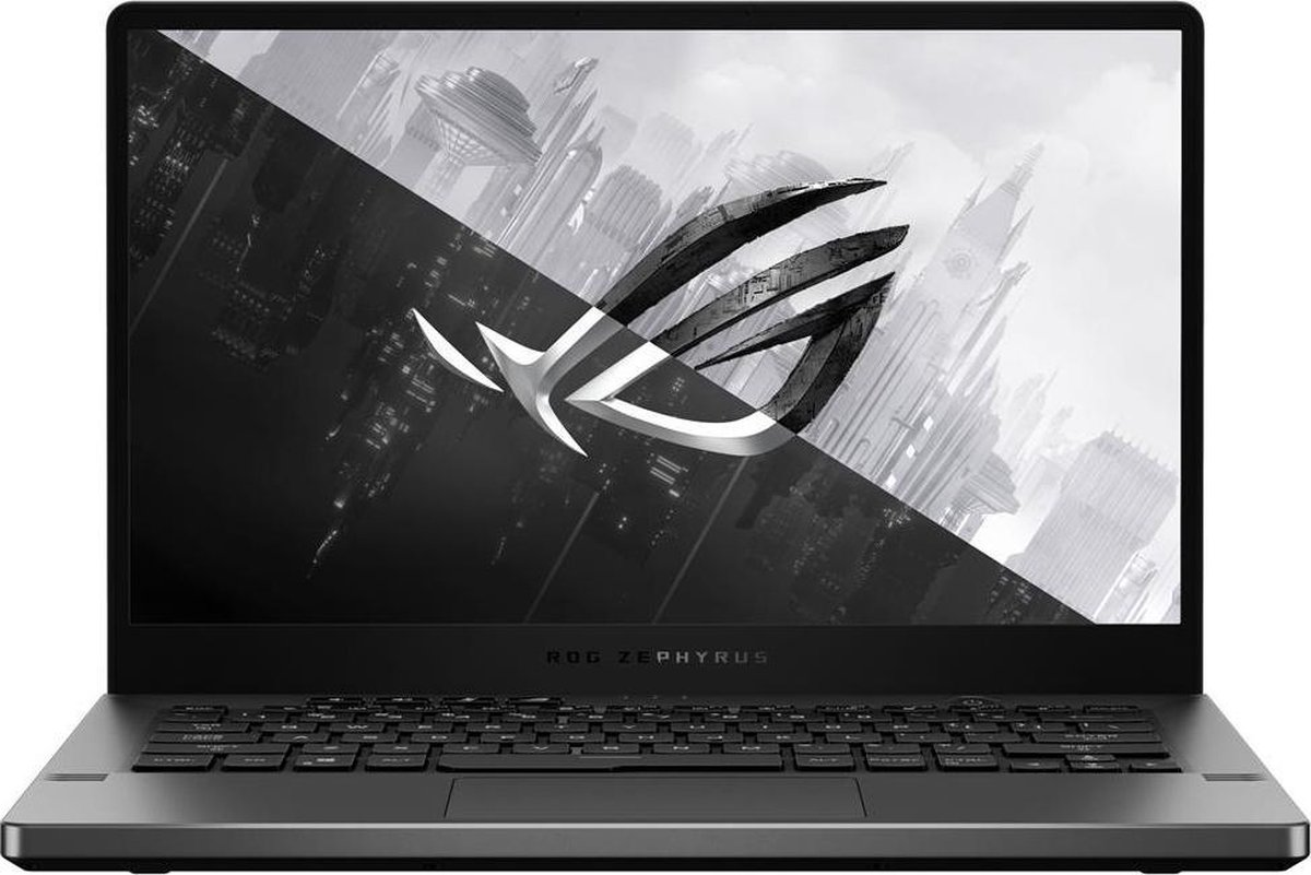 ASUS ROG Zephyrus G14 GA401IV-HA116T-BE DDR4-SDRAM Notebook 35,6 cm (14) 2560 x 1440 Pixels 3rd Generation AMD Ryzen 9 16 GB 1000 GB SSD NVIDIA GeForce RTX 2060 Max-Q Wi-Fi 6 (802.11ax) Windows 10 Home Grijs