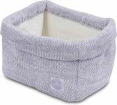 Mandje Melange knit soft lilac