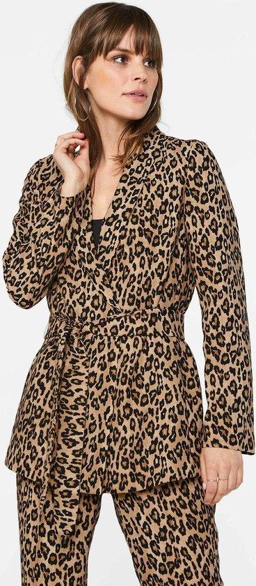 WE Fashion Dames blazer met panterdessin