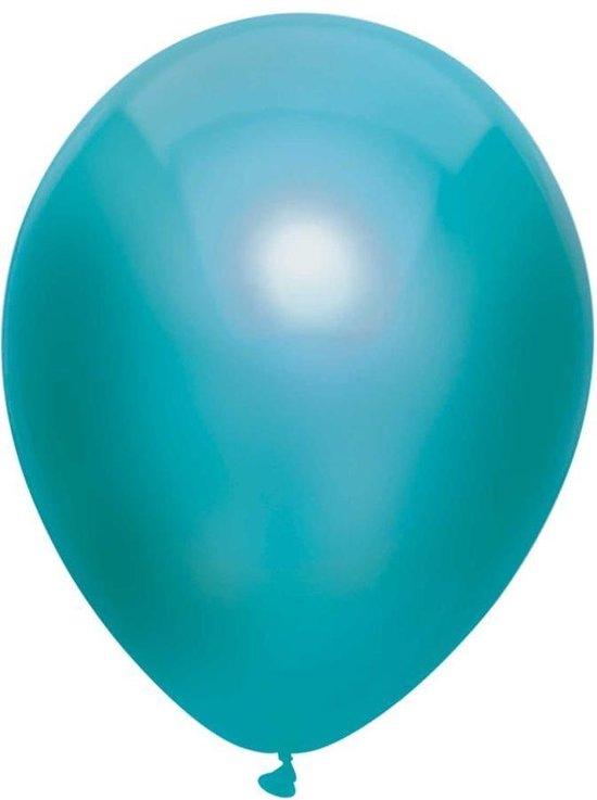 Haza Original Ballonnen Metallic Turquoise 30 Cm 100 Stuks