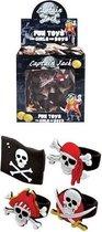 156 Stuks Mix Kinderringen Piraat -  Piraten ring -  In Traktatiebox - Uitdeelcadeautjes - Traktatie voor kinderen - Jongens