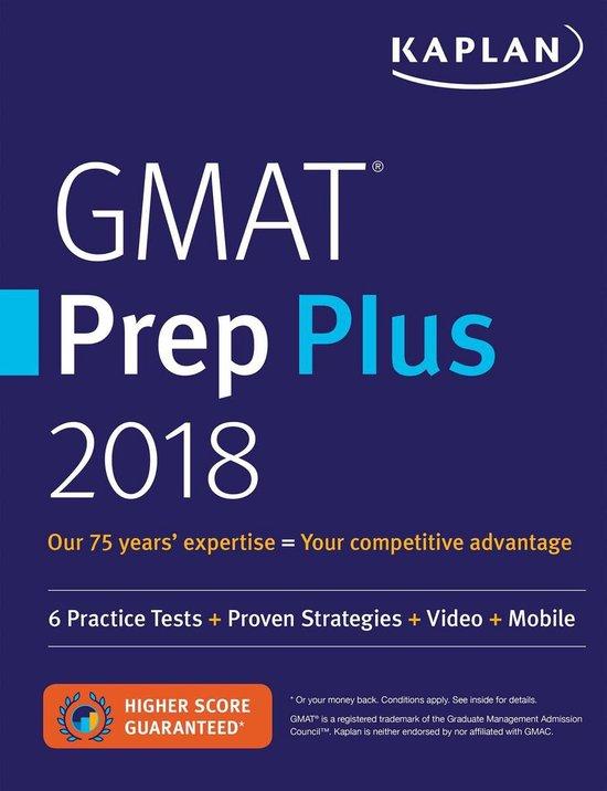 Boek cover GMAT Prep Plus 2018 van Kaplan Test Prep (Paperback)