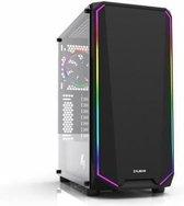 ZALMAN Kast zonder voeding K1 RGB - Formaat ATX - Met gehard glas - Middelste toren - Zwart
