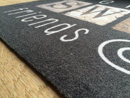Ikado  Deurmat met tekstopdruk  40 x 60 cm - Ikado