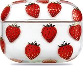 Teleplus Apple Airpods Pro Case Strawberry Pattern Silicone hoesje